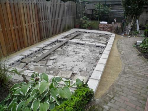 Fundament tuinhuis