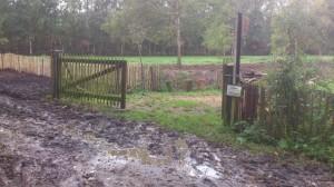 modder, poort kastanjehout
