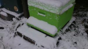 sneeuw op vliegplank