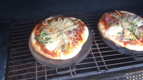 barbecue, pizza bakken