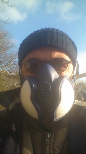 oxaalzuur verdampen, gasmasker